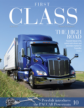 Cover of Fall 2017 issue of First Class magazine