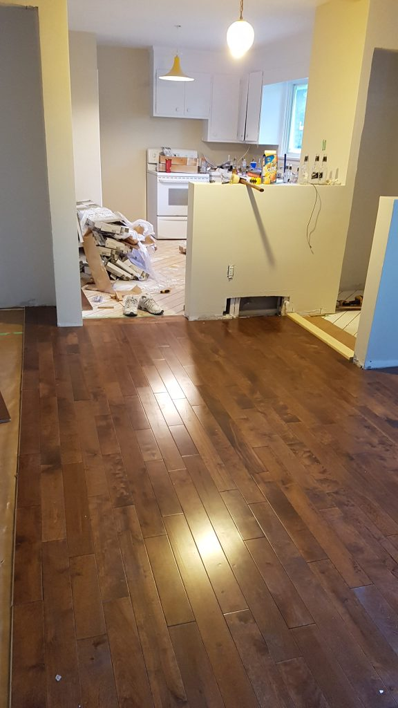 New hardwood flooring put in