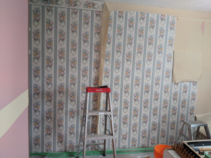 Wallpaper being removed