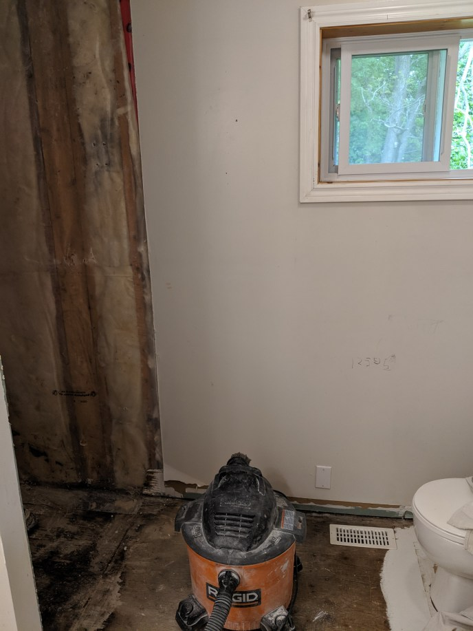 Old floor and shower removed
