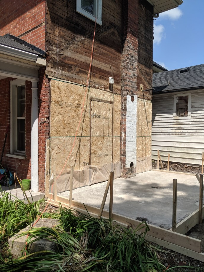 Old shed removed, building prepped for new siding