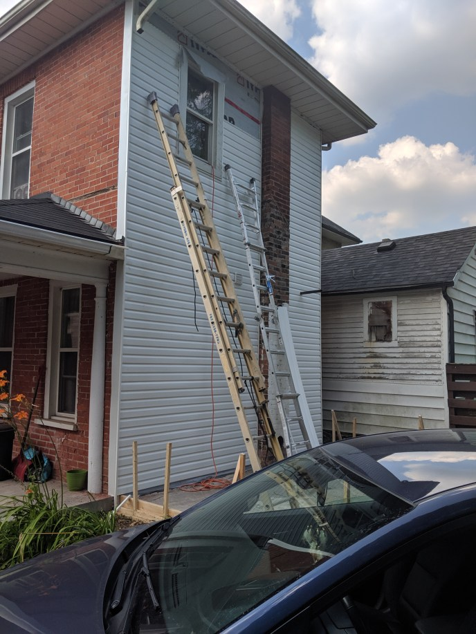 New siding going up