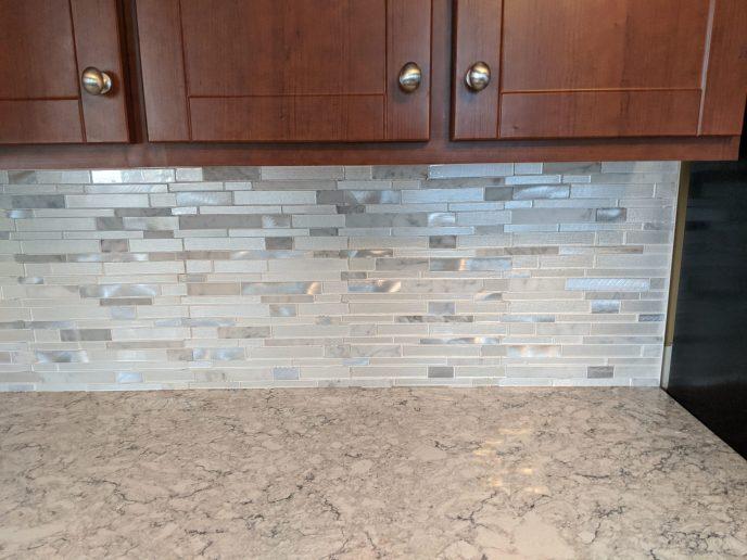 Tiled back splash