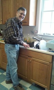 Doing some dishes