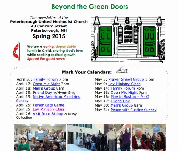 Beyond the Green Doors - Spring 2015 Newsletter