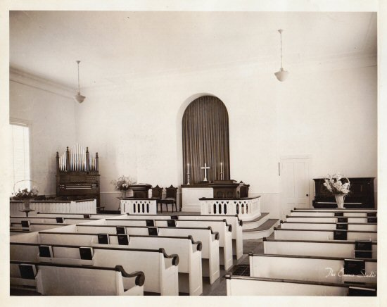 Our sanctuary in the 1940s