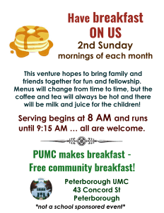 free community breakfast