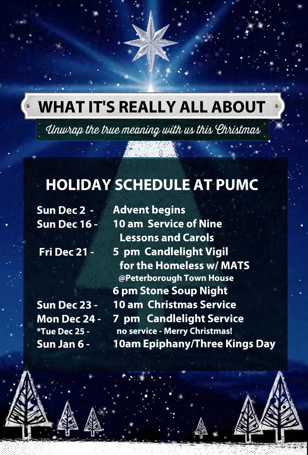 Advent schedule