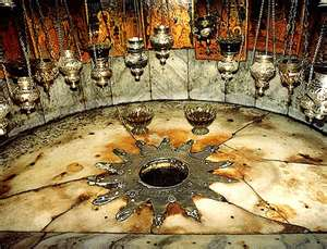 Spot marked by fourteen-point silver star, said to be where Christ was born.