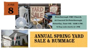 Annual Yard Sale and Rummage at PUMC - Peterborough United