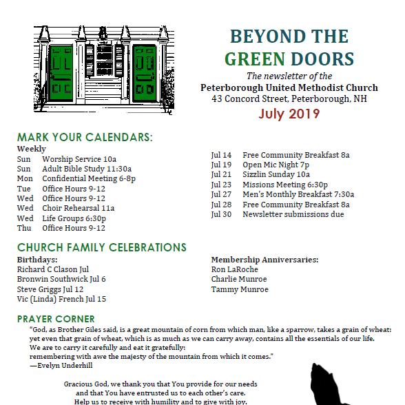 Beyond the Green Doors - July 2019 Newsletter - Peterborough United