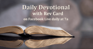 Daily Devotional with Rev Card