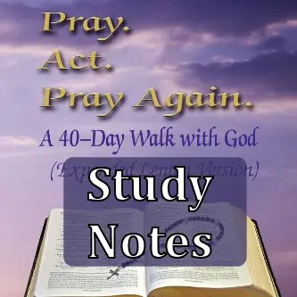 Pray Act Pray Again Lenten Edition Study Notes