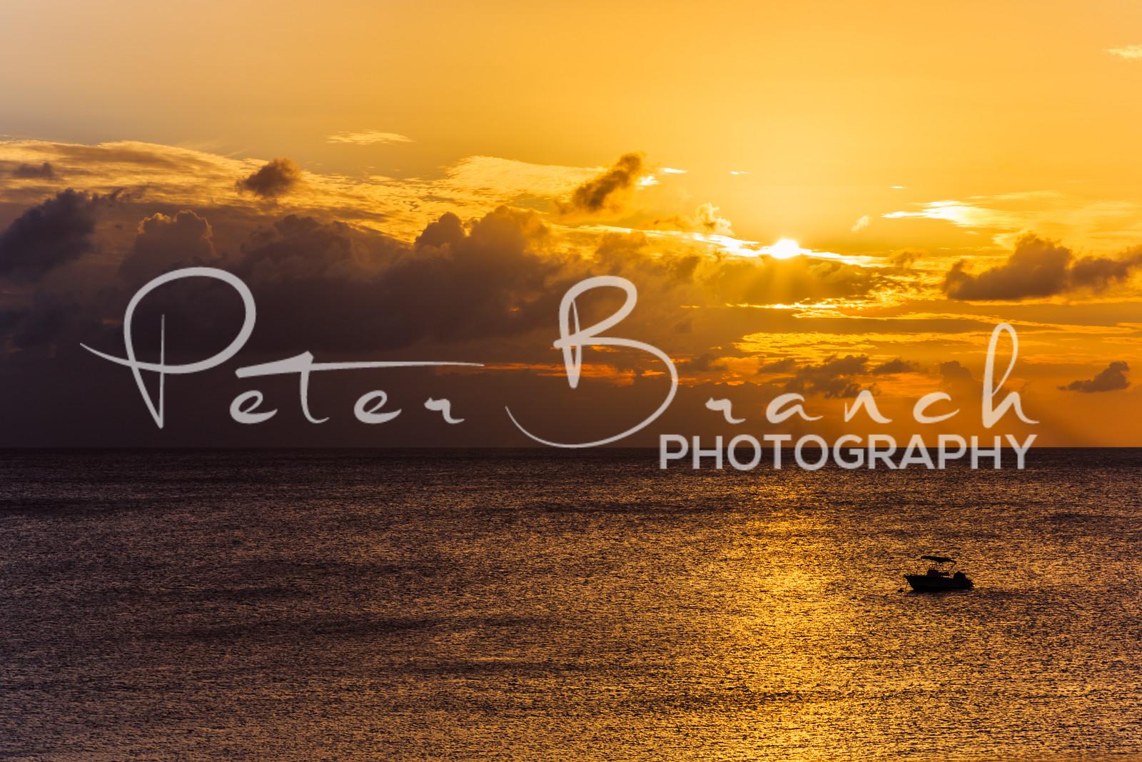 Sunset in Barbados.