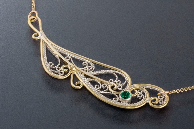 Feather Pendant by Laceworks Jewelry, photographed by Peter Chordas