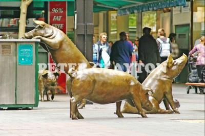 AUSTRALIA - ADELAIDE - RUNDLE MALL PIGS R4