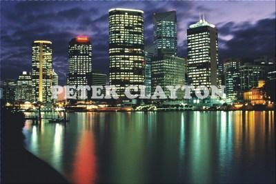 AUSTRALIA - BRISBANE - SKYLINE AT NIGHT R4