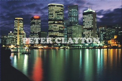 AUSTRALIA - BRISBANE - SKYLINE AT NIGHT R4