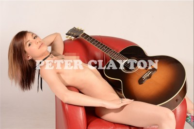 NUDE WITH GIBSON J100 GUITAR #6 R4