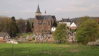 Zicht op de Sint-Dyonisiuskerk vanaf de Krekelberg