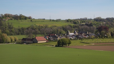 Uitzicht op Oud-Valkenburg vanaf de beukenboom..