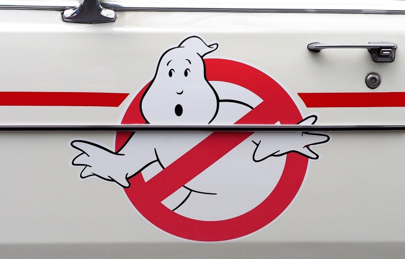 Close up of the Ghostbuster logo on the Ghostbuster mobile