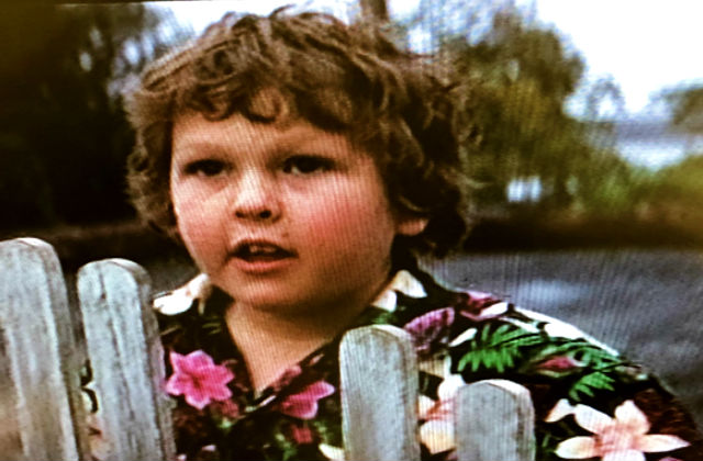 Chunk from the Goonies standing at the front gate