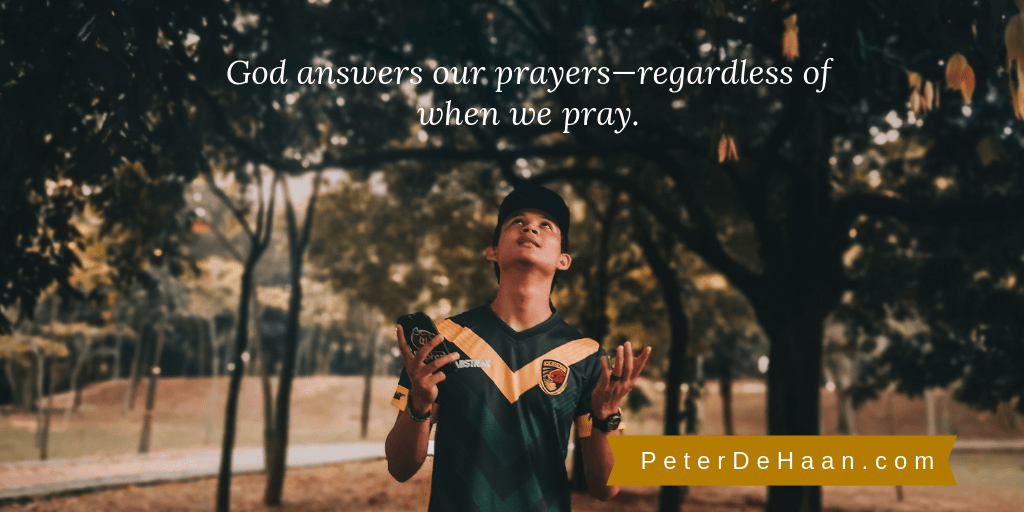 Does the Timing of Prayer Matter?