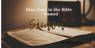 Nine Guys in the Bible Named Simon