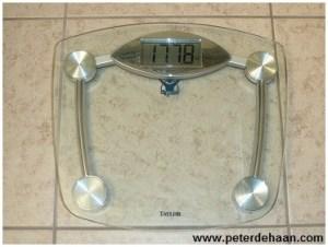 New bathroom scale