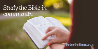 Study the Bible in community.