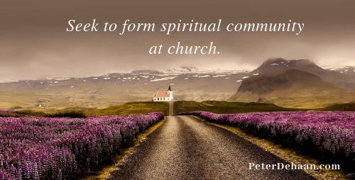 Don't Be a Church Shopper