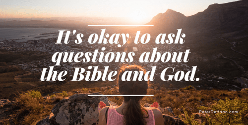 The Bible is the Big Book of Questions