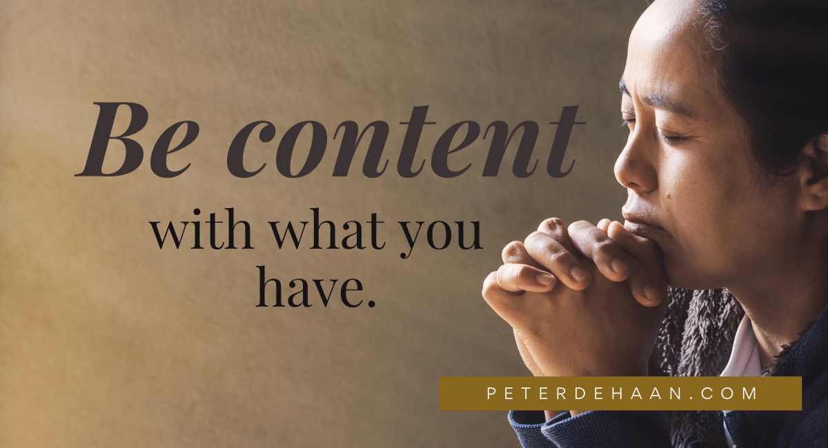 How Content Are You with God's Blessings?