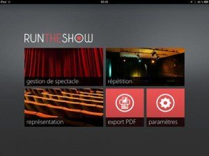 Le logiciel Run the Show
