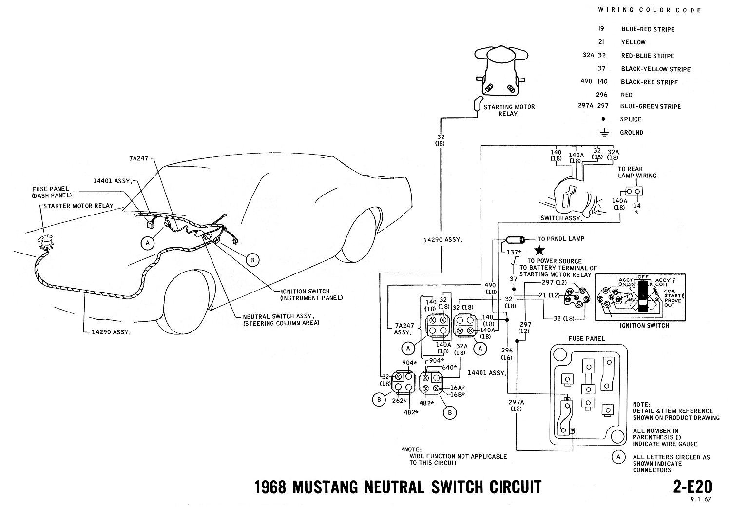 68 Mustang Dash Wiring Diagram