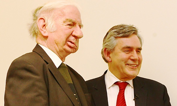 Willie Clarke and Gordon Brown at an official event in 2012.