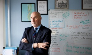 Detective Chief Superintendent John Carnochan of The Scottish Violence Reduction Unit (VRU) at their HQ in Glasgow.
