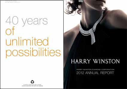 Left: Scott Thornley + Company's AR for the National Arts Centre. Right: The Works Design's AR for Harry Winston Diamond Corp.