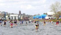Head of the Dart - SUP Race start - Carnage!