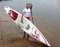 Pete Holliday - SUP athlete - BIC Racetech Pro / ZRE Powersurge. Nutrichef Flapjack / Chi Coconut water