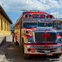 Chicken Buses of Antigua Guatemala