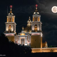 Another Try at a Full Moon Photo in Cholula