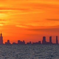 The Chicago Skyline From Michigan City