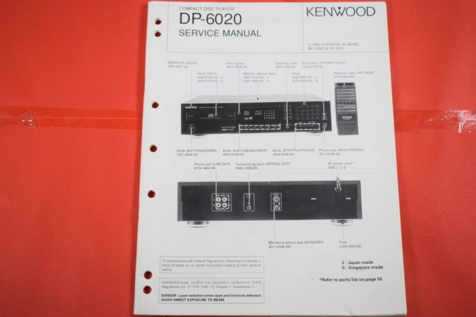 details about original service manual and wiring diagram kenwood kx6020 cd  player show original title