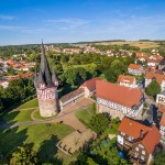 Der Junker-Hansen-Turm in Neustadt Hessen fotografiert mit einer Drohne