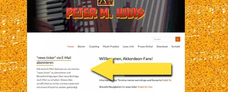 """Abonniere den """"news ticker"""" von Peter M. Haas"""