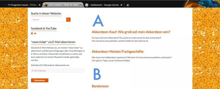 Akkordeon-Info-ABC auf der website des Berliner Musikers Peter M. Haas