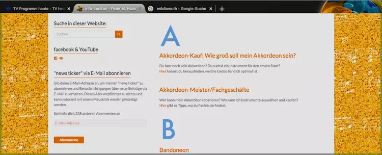 Info Lexikon auf der website von Peter M. Haas