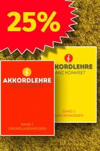 Sparangebot Akkordlehre zwei Bände mit 25 Prozent Preisvorteil